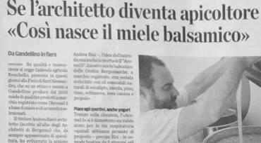 Architetto Apicoltore – Articolo Eco di Bergamo